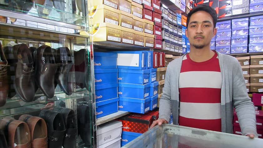 Ahmad from Afghanistan: I worked in a shoe shop already in high school